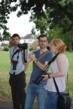 Participants and tutor on photography walk
