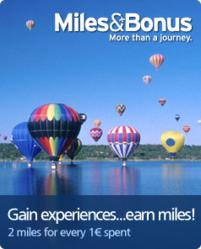 Earn 2 miles for every EURO spent on tours or transfers.