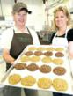 Tom and Carol Healy hold a tray of their cookies at their business in Bend OR. on Saturday. The No-Bake Cookie Co. will be included in the official 32nd Annual News and Documentary Emmys gift bag that