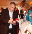 Michael Losier signing his book Law of Attraction