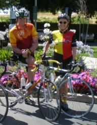 Peter Franklyn and Bonnie Pybus at the 2007 Napa Valley Ride to Defeat ALS
