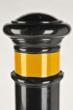 Reliance Foundry's model R-8353 decorative, flexible bollard shown with available yellow striping
