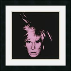 gI 92128 Self Portrait 1986 pink on black 2 by Andy Warhol Framed Art Print Online Home Decor Site, Amanti Art, Announces Website Affiliate Program