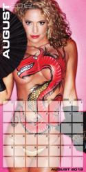Jennifer Nicole Lee Body Paint Calendar Photo Super Fitness Model