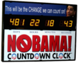 New Political Gift The NObama Countdown Wall Clock Hits The Market to...