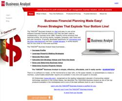 Home page of www.thebusinessanalyst.com