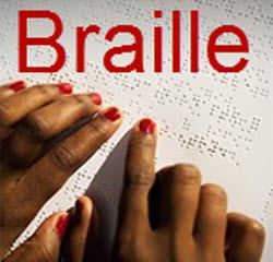 Reading Braille printed with Index Braille Embosser