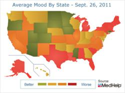 gI 74396 AvgMoodMap America?s Mood Drops to Worst in 12 Months, MedHelp Reports