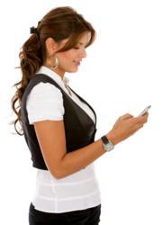 women using mobile phone