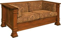 Amish built, Solid Wood Loveseat