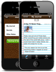 Penzu Journal and Diary App for iPhone