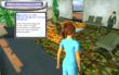 A student interviews two virtual hospital employees in a psychological simulation environment.