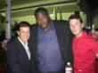 Peter Lamas with Quinton Aaron and Tyler Wade