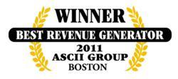 ASCII Boston Best Revenue Generator Award