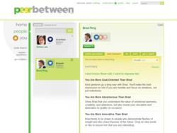 A screenshot of the new social utility Peerbetween