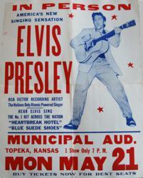 Elvis Presley Hatch Show Print Concert Poster Topeka Kansas