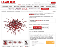 Product Page Design at Lamps Plus