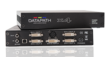 The Datapath x4 is a stand alone display wall controller that accepts a standard single or dual-link DVI input and can flexibly display this across four output monitors