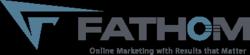 new Fathom logo: horizontal with tagline