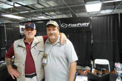 Tim Ellwood of FoxFury with long-time NRA supporter R Lee Ermey at the 2011 NRA Police Shooting Championships