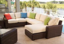 Contempo Wicker Sectional by Lloyd Flanders