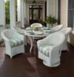 Wicker dining sets by Lloyd Flanders