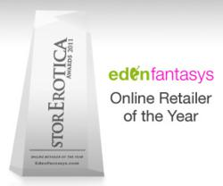 "EdenFantasys Wins ""Online Adult Retailer Of The Year"" At StorErotica Awards"