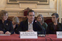 Dr. Michael Doyle speaking in Paris at the Ethical Surrogacy Practices conference