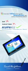 Kupa X11 Ipad Android Microsoft Windows8 tablet computer tabletpc HTC Acer Windows Enterprise Business spc sharepoint