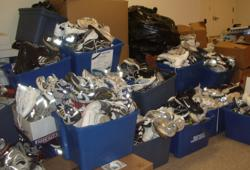 AthletiCo celebrates PT Month by holding a shoe drive to collect new and gently used shoes.