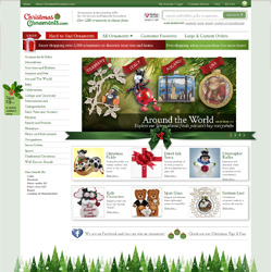 ChristmasOrnaments.com Redesigned Home Page