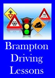 Signage for a Brampton Driving School