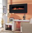 BG 100 Series Crystal Black Glass Wall Mount Fireplace