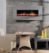 BG 100 Series Grey Limestone Wall Mount Fireplace