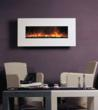 BG 100 Series White Limestone Wall Mount Fireplace