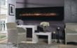 BG 240 Series Crystal Black Glass Wall Mount Fireplace