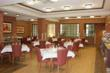 The newly-refurbished dining hall resembles an upscale restaurant.