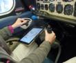 myclip ipad kneeboard for pilots in cockpit with aviation app