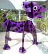 """R. Hero,"" a 6'-2"" tall dalmatian sculpture"