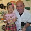 Radio Personality Brian Whitman with Modern Family star Aubrey Anderson-Emmons.