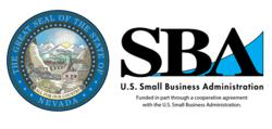State of Nevada and SBA Logos with acknowledgement