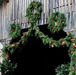 Dried and fresh magnolia wreaths from The Magnolia Company