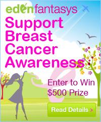 EdenFantasys Supports Breast Cancer Awareness