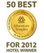 Who are AdventureTemples 2012 hotel winners?