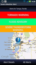 New Severe Weather Alert App for Android
