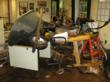 Close to 5 feet of water flooded Harth's offices