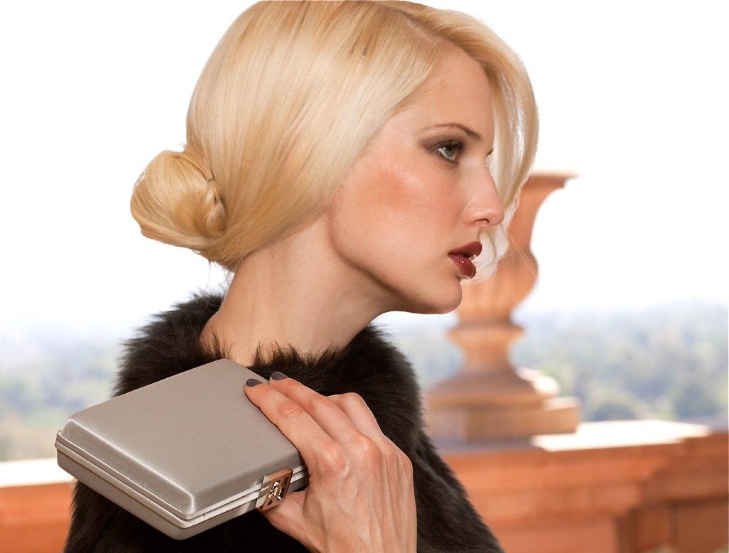 <b>Jill Milan</b> Art Deco ClutchArt Deco Clutch in Gray, handmade in Italy ... - _MG_1713c