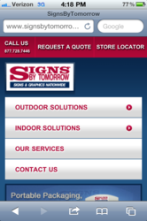 Signs By Tomorrow Mobile Website