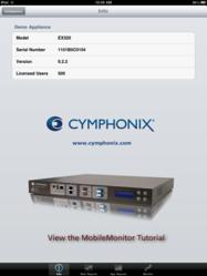 Cymphonix MobileMonitor app for iPad, iPhone and iPod