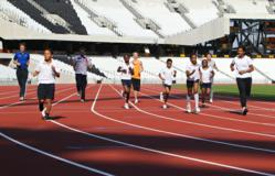 London 2012 athletics track completed